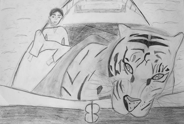 Illustration von Martina A. A3 Papier, Bleistift, Wasserfarbe