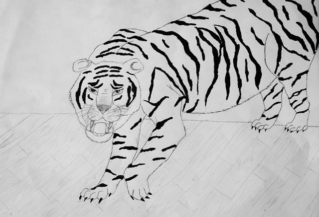 Illustration von Patrik Filipovic A3 Papier, Bleistift, Wasserfarbe
